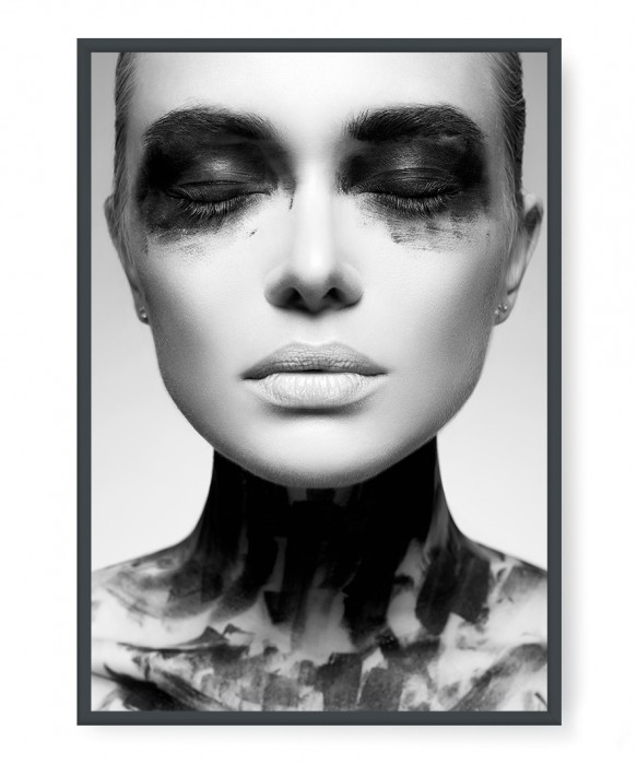 Plakaty - Girl in Black Paint