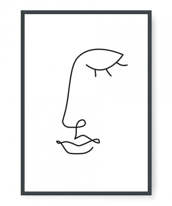 Plakaty - Face line art