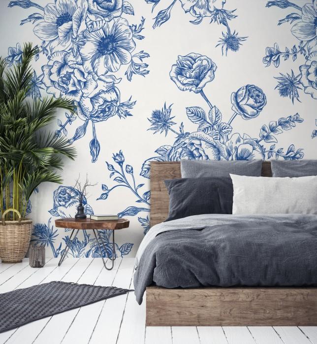 Clasic Blue - Blue flowers