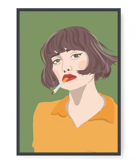 Plakaty - Woman with a cigarette