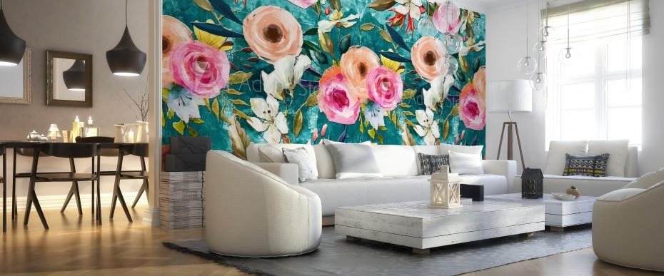FLORAL - Namalowane kwiaty