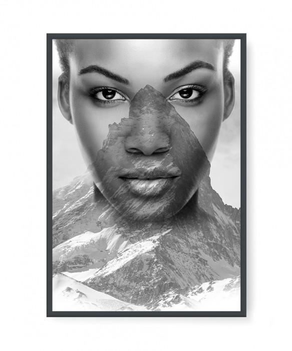 Plakaty - Mountain in woman